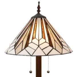 5897  Vloerlamp H165cm met Tiffany kap Ø40cm Astoria Brown