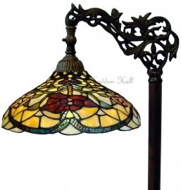 5372 9458 Vloerlamp H164cm met Tiffany kap Ø34cm