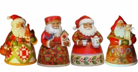 Set van 4 Jim Shore Pint Santa's H12cm