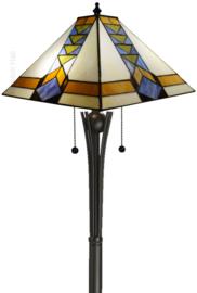 7855 Vloerlamp H158 met Tiffany kap 37x37cm Pyramide