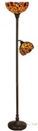 """TV38M-S-5718 Vloerlamp Uplicht H176cm met 2 Tiffany kappen """"Josette"""""""