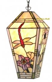 9877 Hanglamp Tiffany H33cm 17x17cm Garden Dragonfly .