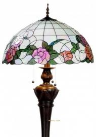 9280-9459 Vloerlamp  met Tiffany kap Ø50cm Alba *Bolling in de voet*