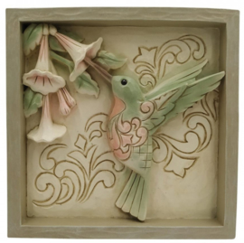 Plaque Hummingbird 16x16cm - Jim Shore 6009334