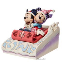 Mickey & Minnie Sledding H11,5cm Jim Shore 6008972