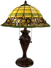"5805 Tafellamp Tiffany H58cm Ø40cm  ""Olive"""