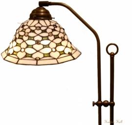 505 708H Vloerlamp Haaks met Tiffany kap Ø26cm Jewel