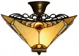 5313 96 Plafonniere Tiffany 35x35cm  Amber