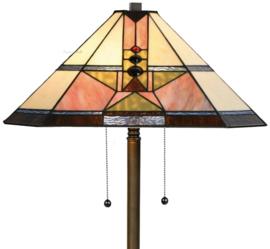 5781 Vloerlamp Bruin H159cm 48x48cm Schuitema