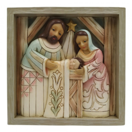 Plaque Nativity  16x16cm Jim Shore 6009562