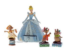 "Cinderella ""Treasure Keeper"" Suzy, Jaq & Gus - Set van 4 JIm Shore beelden"