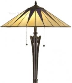 "TG08FL Vloerlamp Tiffany H158cm Ø49cm ""Dark Star"""