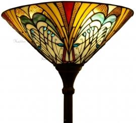 "T13L Vloerlamp Tiffany H180cm met kap Ø40cm ""Hector"" Uplicht"