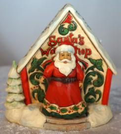 Set van 2 Santa and Workshop H9cm Jim Shore 4060314