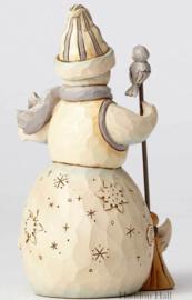 Flurry of Friends - H13cm White Woodland Snowman Jim Shore 4053698
