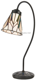 74364 Bureaulamp Dark Star met Tiffany kap Ø13cm Astoria