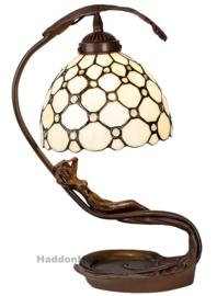 6097 Tafellamp Tiffany H42cm Lady with Creme Pearl