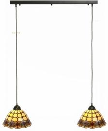Balk B80cm met 2 Tiffany kappen Ø26cm