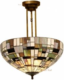 1143 203 Hanglamp Plafonniere Tiffany Ø50cm  Art Deco Green