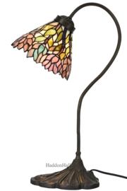 6162 Bureaulamp H51cm met Tiffany kap Ø20cm Aster