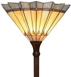5763 Vloerlamp Uplicht H185 met Tiffany kap Ø45cm Sunrise