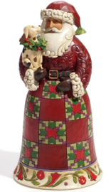 """Faithful Friends"" H23cm Santa with Dog Jim Shore   4022918 Heartwood Creek uit 2011"