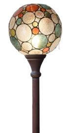 8186 Vloerlamp Uplight H175 met Tiffany kap Ø25cm Endless