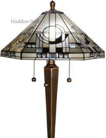 TM25L Vloerlamp H167cm met Tiffany kap Metropolitan Ø58cm Voet Brons