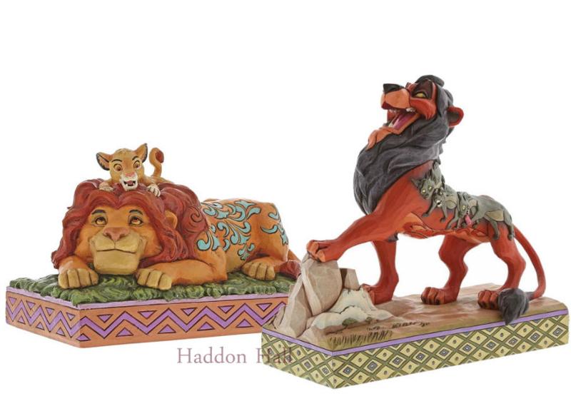 Lion King - Mufasa & SImba - Scar Set van 2 Jim Shore figurines