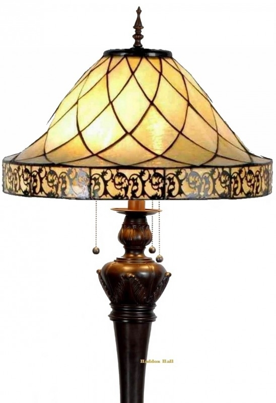 5281 9459 Vloerlamp Tiffany Ø45cm Filigrees Bolling in de voet