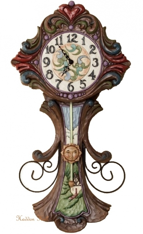 """Everything in Its Own Time"" 57cm Jim Shore Grandfather Clock"