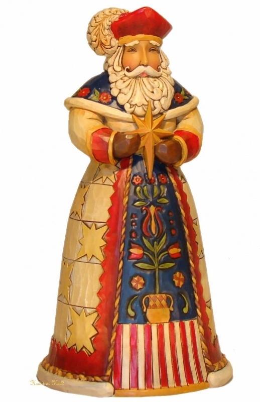 """Wesolych Swiat"" Polish Santa H18cm Jim Shore Poolse kerstman uit 2011"