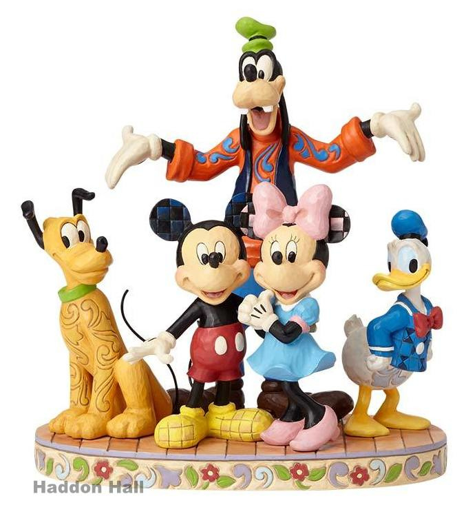 Mickey Minnie Pluto Goofy & Donald H23cm  The Gang's All Here  Jim Shore 4056752 Fab 5