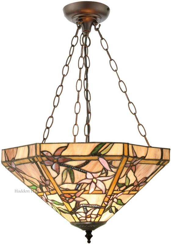T047 SU3 Hanglamp Tiffany Ø42cm Clematis