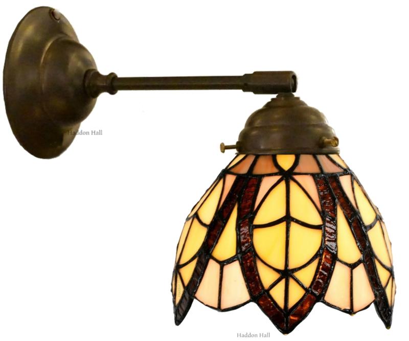 8119 246 Wandlamp met Tiffany kap Ø15cm Flow Souplesse