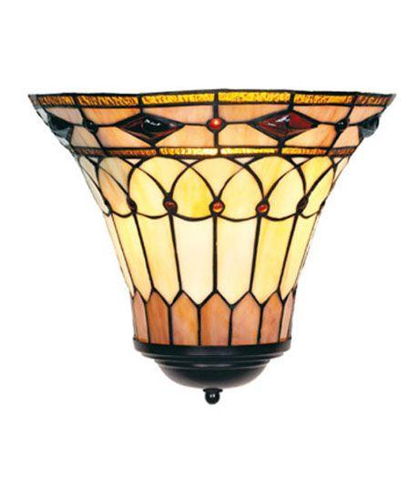 LPW05 Wandlamp Tiffany B30cm Schelpmodel Bedford