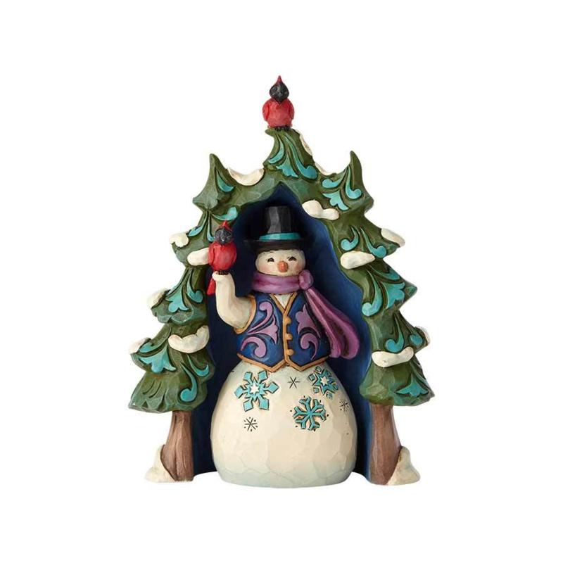 Snowman & Tree H9cm 2-delig Jim Shore 4060313