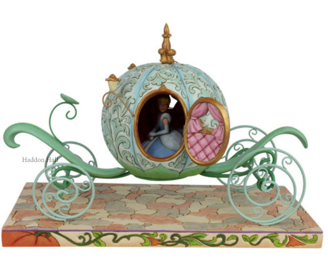 CINDERELLA Carriage B42cm! H29cm Jim Shore 6007055