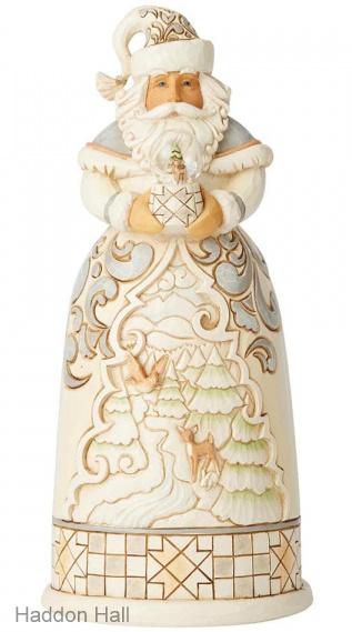 """White Woodland Santa H22cm """"Christmas in the Countryside"""" Jim Shore 6004170"""