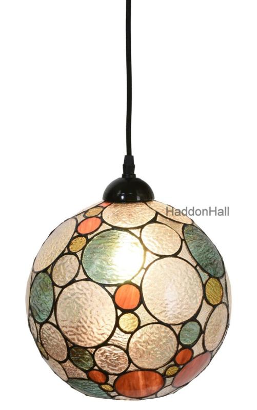 8186 8230 Hanglamp Tiffany Ø25cm Endless -Textielsnoer