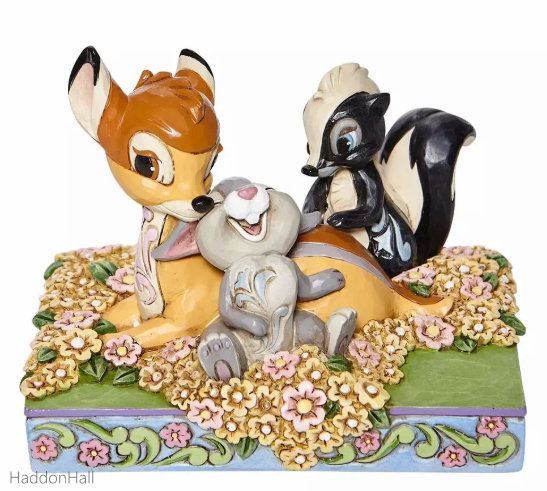 Bambi & Friends in Flowers H10cm Jim Shore  6008318