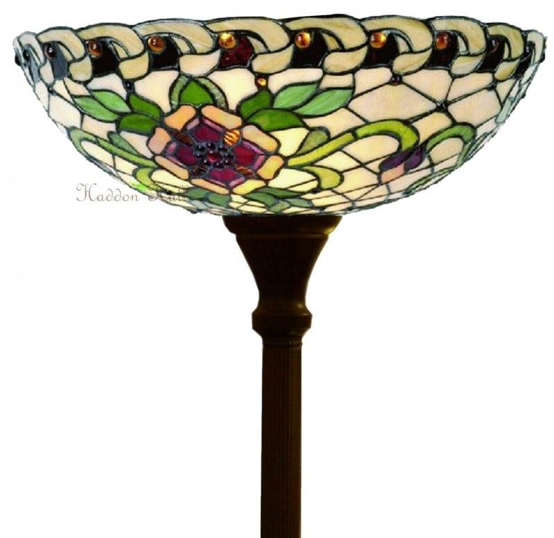 5419 Vloerlamp H180cm met Tiffany kap Ø40cm Santana