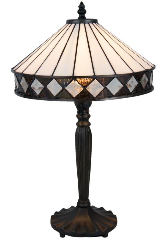 5198 Tafellamp Tiffany H46cm Ø30cm Fargo