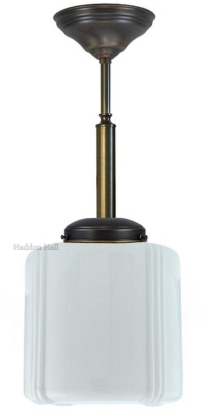 Adidas - Hanglamp Art Deco Ø20cm H49cm  Donkerbrons - Afgerond