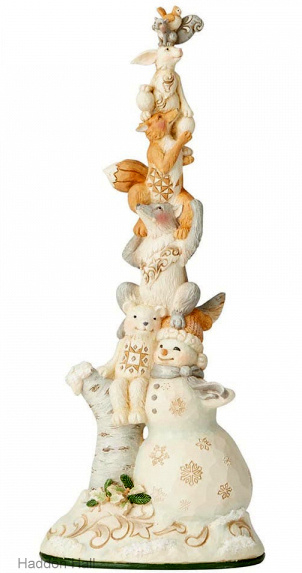 Rise Up This Winter H34cm Snowman Stacked with Animals Jim Shore 6004172