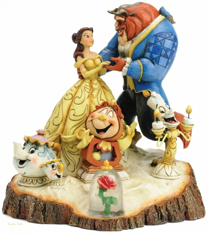 """BEAUTY & BEAST """"Tale as Old as Time"""" H 19cm Jim Shore 4031487"""