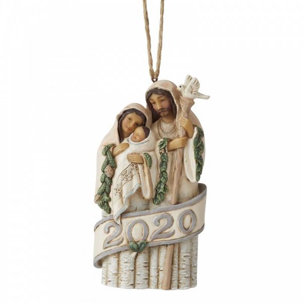 White Woodland Holy Family 2020 Hanging Ornament H11,5cm Jim Shore 6006588