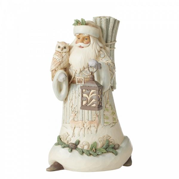 Seek Wonder Within The Winter H25,5cm Santa with Owl and Lantern 6006578