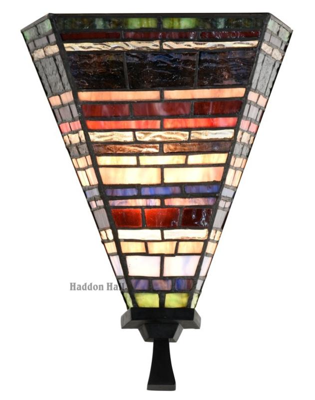 8128 Wandlamp Tiffany B23cm H30cm Industrial