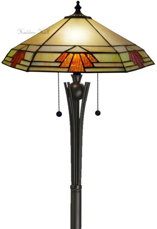 """TM16FL TG08FB Vloerlamp Tiffany H158cm Ø43cm """"Nevada"""""""